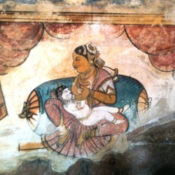 Tanjore Painting, Big Temple of Shiva Thanjavur