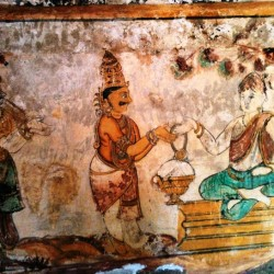 Tanjore Painting inside Big Temple, Thanjavur